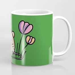 Cute Kawaii Spring Mouse and Flowers Coffee Mug