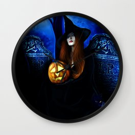 Samhain Witch Wall Clock