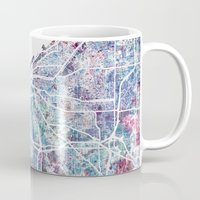 cleveland Mugs featuring Cleveland map by MapMapMaps.Watercolors