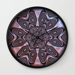 Bronze Flower #1 Wall Clock