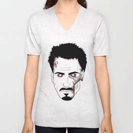 Zombie Robert Downey Jr. Unisex V-Neck