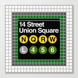 subway union square sign Canvas Print