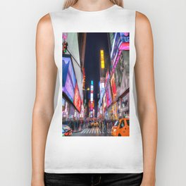 Times Square New York Biker Tank