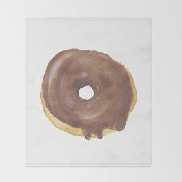 Chocolate Iced Doughnut Throw Blanket