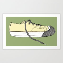 Sneaker in profile Art Print