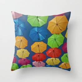 Soak Up the Color Throw Pillow