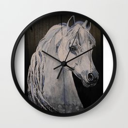 Ghost Horse Wall Clock