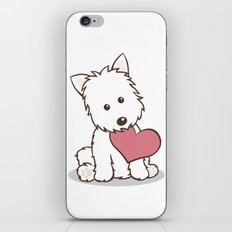 Westie Dog with Love Illustration iPhone & iPod Skin