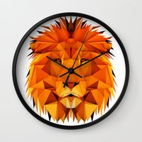 courage Wall Clocks featuring Courage by jenkydesign