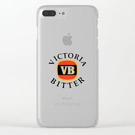 victoria bitter black Clear iPhone Case