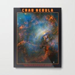 Beating Heart of the Crab Nebula Metal Print