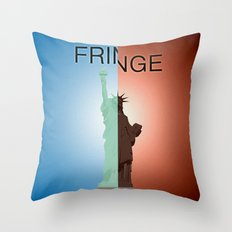 Fringe. Statue of Liberty Throw Pillow