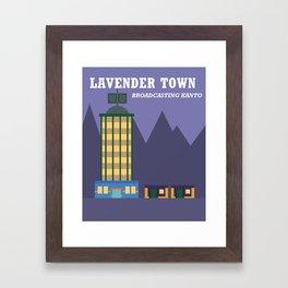 Lavender Town Framed Art Print