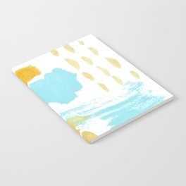 Summer blue yellow abstract Notebook