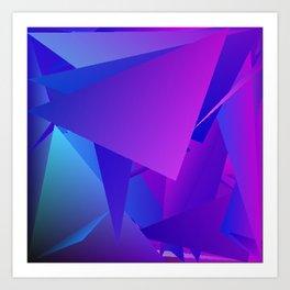 Rhapsody in Blue 3 Art Print