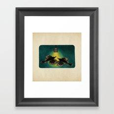 Sea Moths Framed Art Print