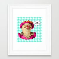 agnes Framed Art Prints featuring agnes by KendraLock