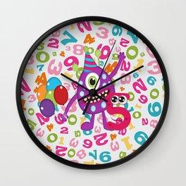 Birthday Monsters 5th Birthday Wall Clock