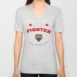 MMA Fighter Tiger Unisex V-Neck