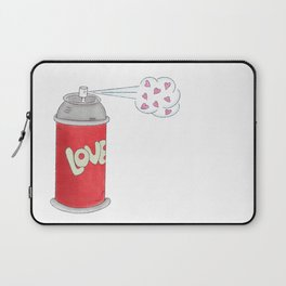 Spread Love - Red and Pink, Spray Can, Love Illustration Laptop Sleeve