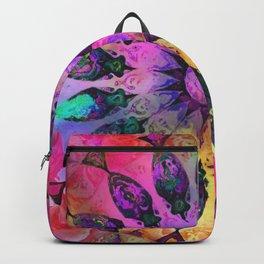 Golden Rainbow Sun Kaleidoscope Backpack