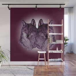 Season of the Wolf - Duet in Magenta Wall Mural
