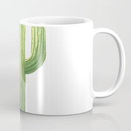 Simple Green Cactus on White Coffee Mug