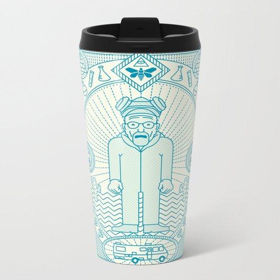 Crystal Blue Jam  Metal Travel Mug