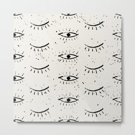 The eyes - vintage drawing illustration pattern Metal Print