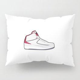 Jordan 2 Retro White Red Pillow Sham