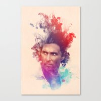 true detective Canvas Prints featuring True Detective by Pepe Psyche