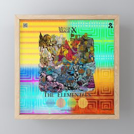Mysticx & Magick: The Elemental Tribes of the Lost Continent - Art Cover Framed Mini Art Print