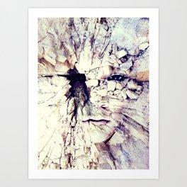Bleak world of absent law Art Print