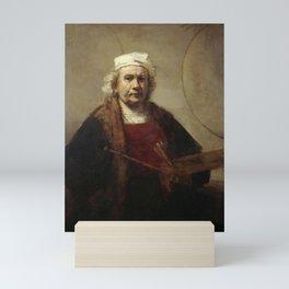 Self-Portrait with Two Circles Mini Art Print
