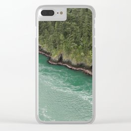 Water Meets Woods Clear iPhone Case