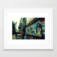 stickers Framed Art Prints featuring Urban Stickers by Martin Sturk
