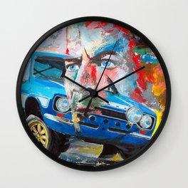 Ford Escort RS & Paul Walker in Fast & Furious 6 Wall Clock