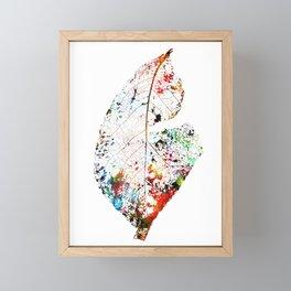 fallen leaves Framed Mini Art Print