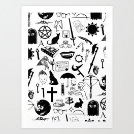 Buffy Symbology, Black Art Print