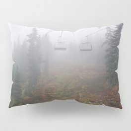 Foggy mountains fall morning Pillow Sham