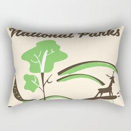Visit America's National Parks vintage poster Rectangular Pillow