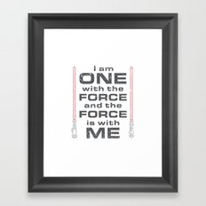 Force is with Me - Red Framed Art Print