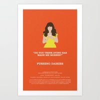 pushing daisies Art Prints featuring Pushing Daisies - Chuck by MacGuffin Designs