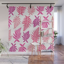 Inked Ferns – Blush Palette Wall Mural
