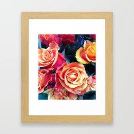 Bed of Roses Liberty of London flower market Framed Art Print