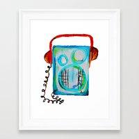 radiohead Framed Art Prints featuring Radiohead by anjics