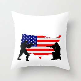 Red Friday for Women Men for Deployed Sons Solider Throw Pillow