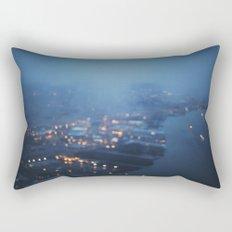 City Lights at Twilight Rectangular Pillow