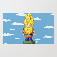 gnome Area & Throw Rugs featuring Gnome Sayan by Nate Galbraith