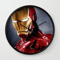 ironman Wall Clocks featuring IronMan by San Fernandez